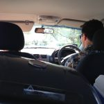 Crowded car trip