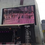 Us on the big screen @ Fed Square